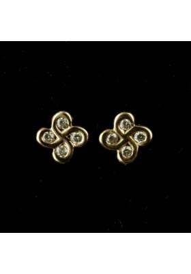 Boucles d'oreilles Alaia txiki diamants or rose