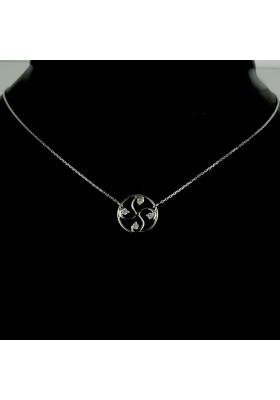 Collier Nahia txiki diamants or blanc