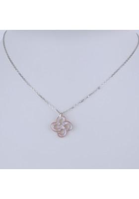 Collier Ilargia argent nacre rose