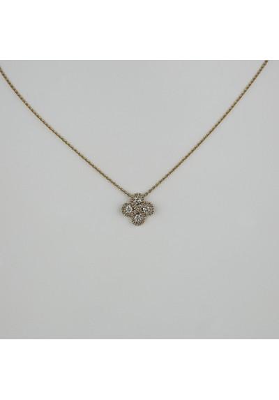 Collier Argia diamants or rose