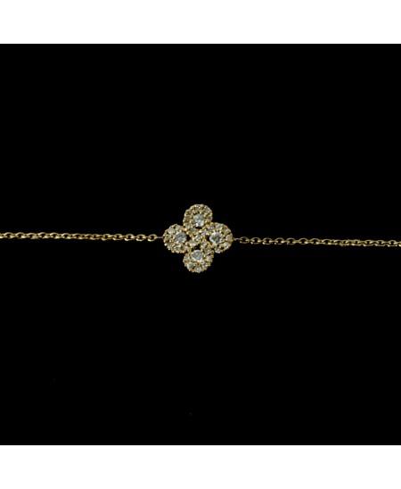 Bracelet Argia txiki diamants or rose