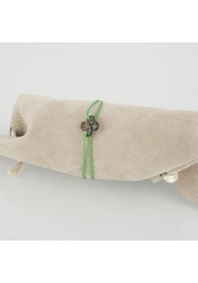 Bracelet baby Ilargia nacre grise sur cordon