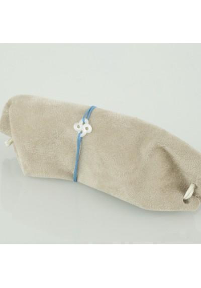 Bracelet baby Ilargia nacre blanche sur cordon
