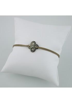 Bracelet Ilargia Nacre grise sur cordon