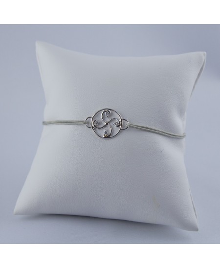 Bracelet Nahia txiki diamants or blanc