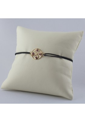 Bracelet Nahia txiki rubis or rose