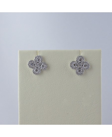 Boucles d'oreilles Argia diamants or blanc