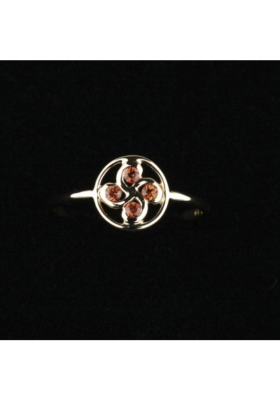 Bague  Alaia saphir orange or rose