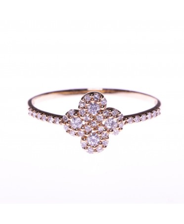 Bague Argia Txiki diamant or rose