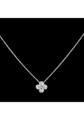 Collier Argia txiki diamants or blanc