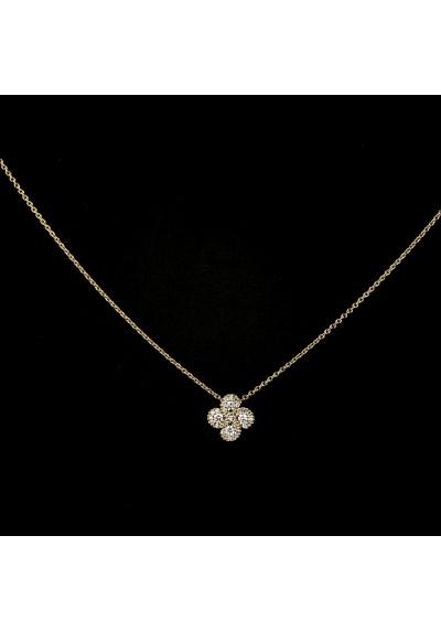 Collier Argia txiki diamants or rose
