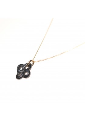 COLLIER OR JAUNE ONYX