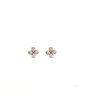 Boucles d'oreilles Alaia txiki diamants or blanc