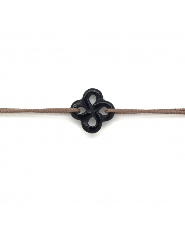 Bracelet Ilargia onyx sur cordon