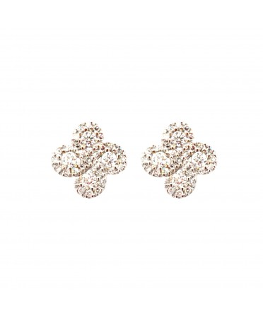Boucles d'oreilles Argia txiki diamants or blanc