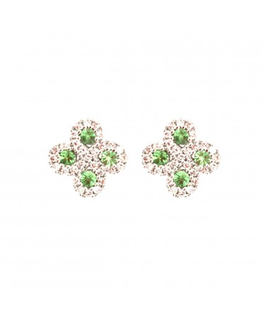 Boucles d'oreilles Argia txiki diamants tsavorites or blanc
