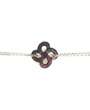 Bracelet Ilargia Argent Nacre grise