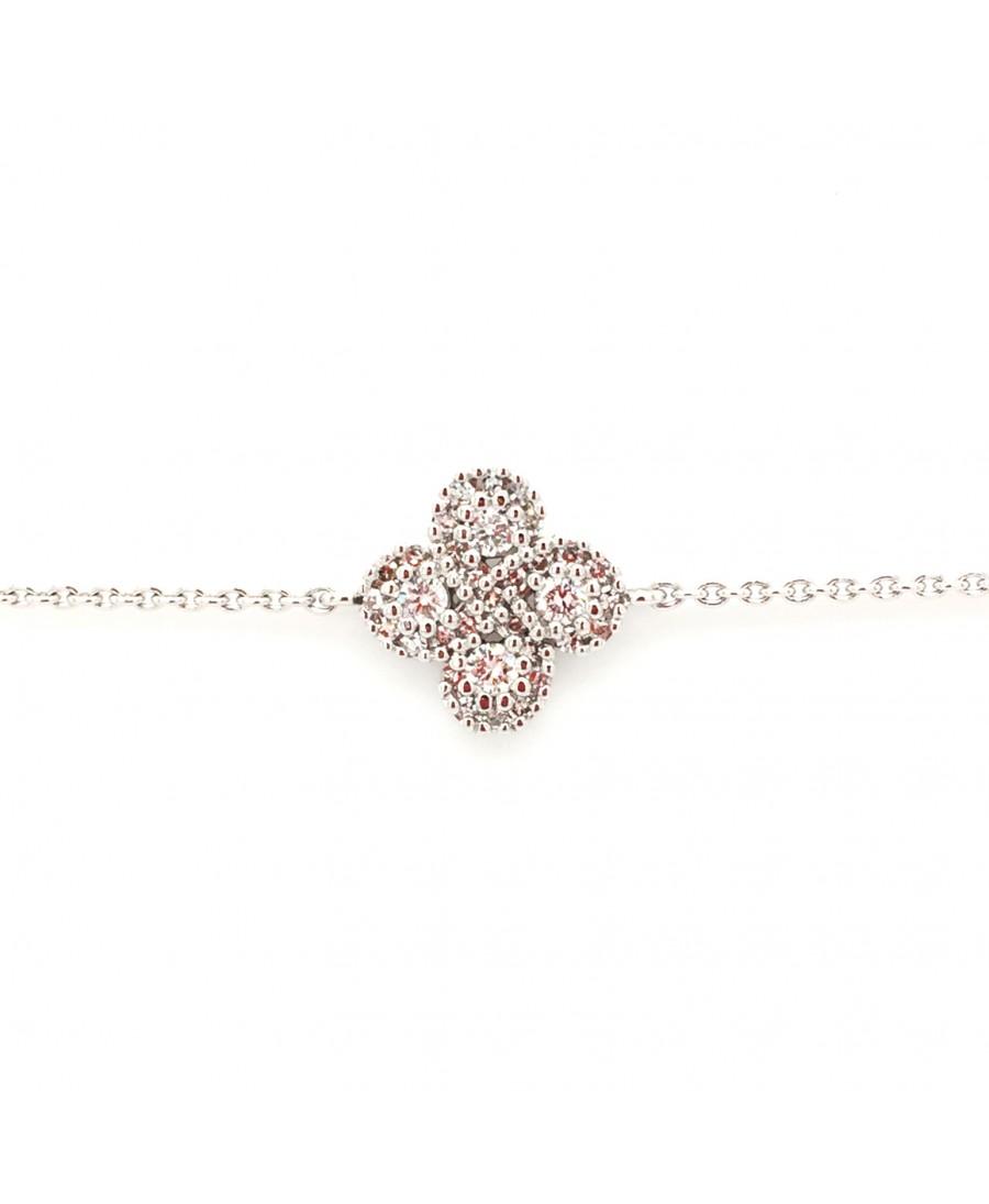 Bracelet Argia txiki diamants or blanc
