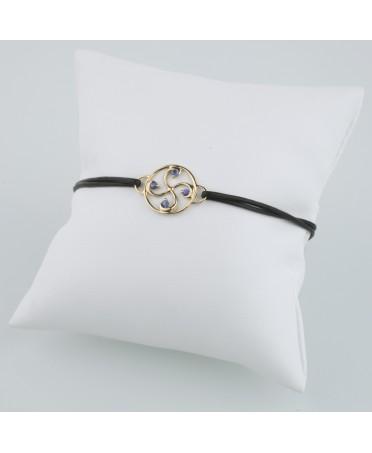 Bracelet Nahia txiki saphirs or rose
