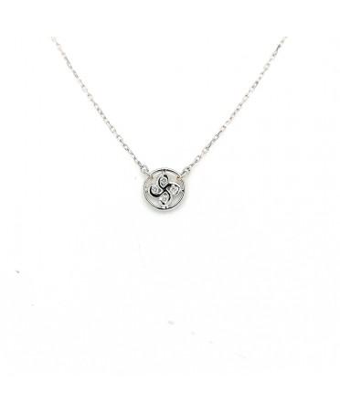 Collier Alaia txiki diamants or blanc