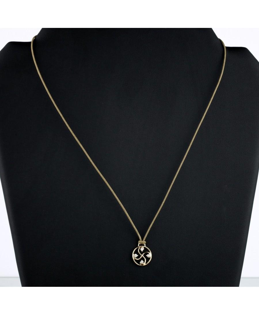 Pendentif Nahia txiki diamants or rose
