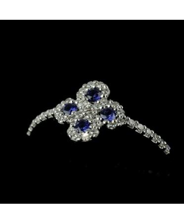 Bague Argia txiki diamants saphirs or blanc