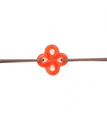 Bracelet Ilargia cornaline sur cordon