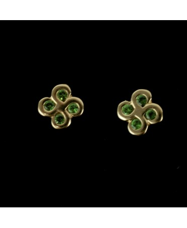Boucles d'oreilles Alaia tsavorites or rose