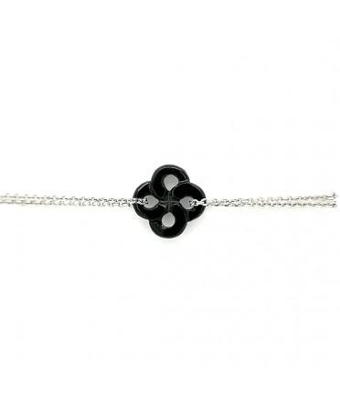 Bracelet Ilargia Argent Onyx