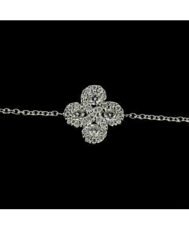 Bracelet Argia  diamants or blanc