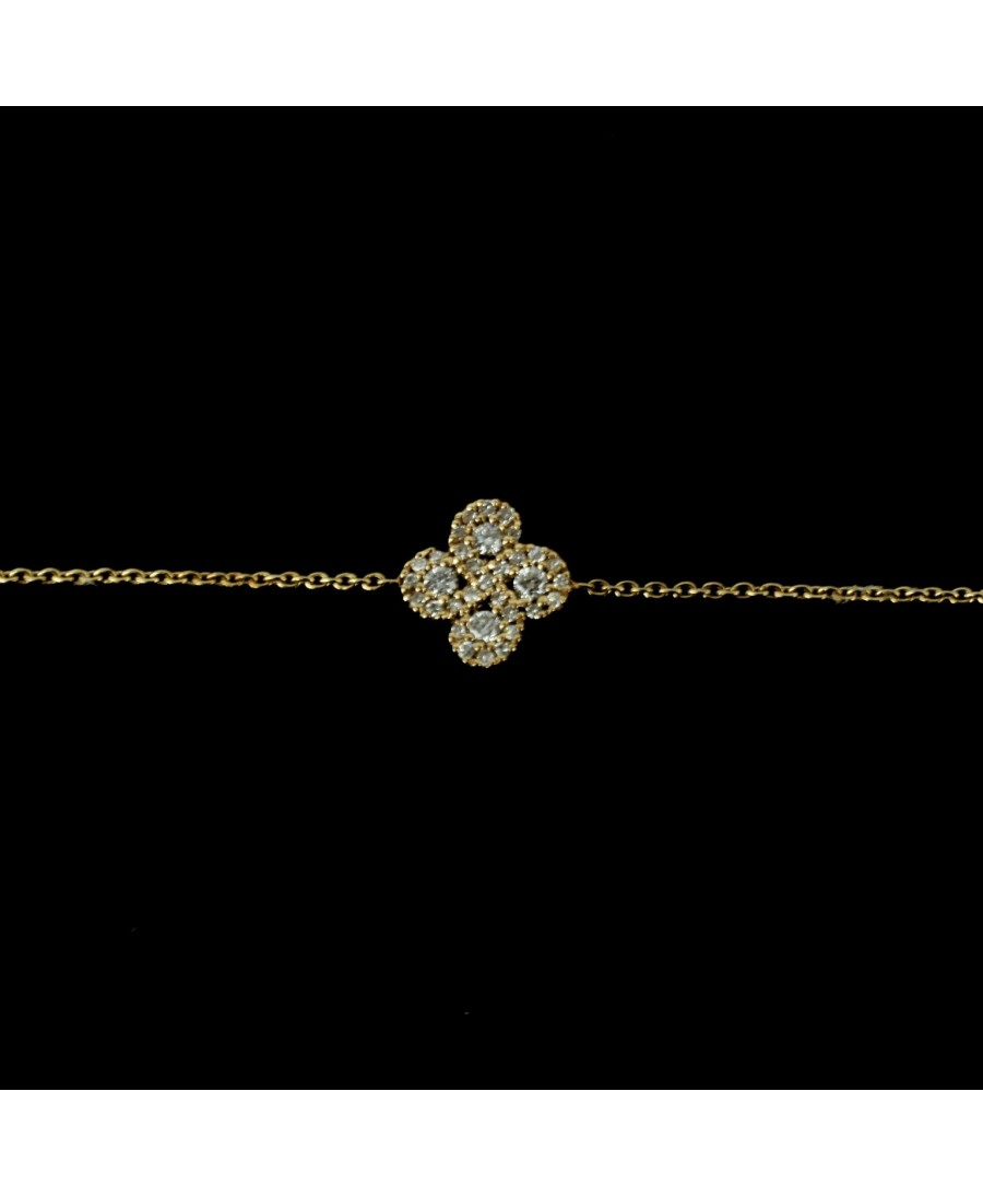 Bracelet Argia txiki diamants or rose