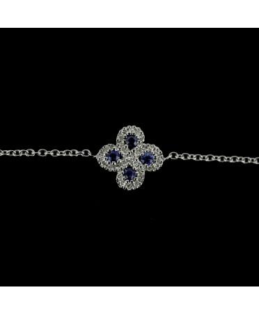 Bracelet Argia txiki diamants et saphirs or blanc