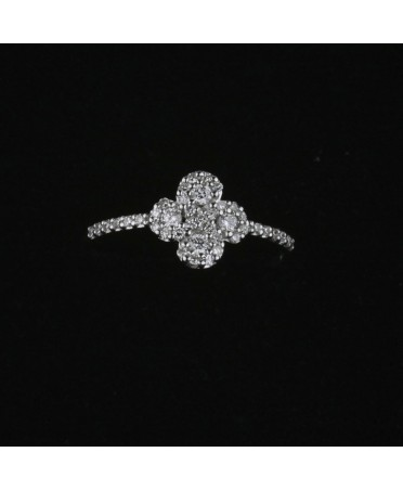 Bague Argia diamant or blanc