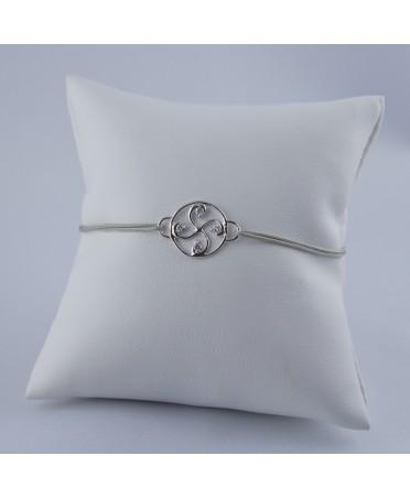 Bracelet Nahia txiki diamants or blanc