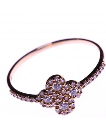 Bague Argia Txiki diamant or rose