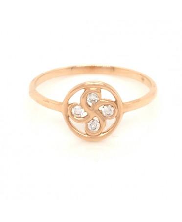 Bague Alaia txiki diamants en or rose