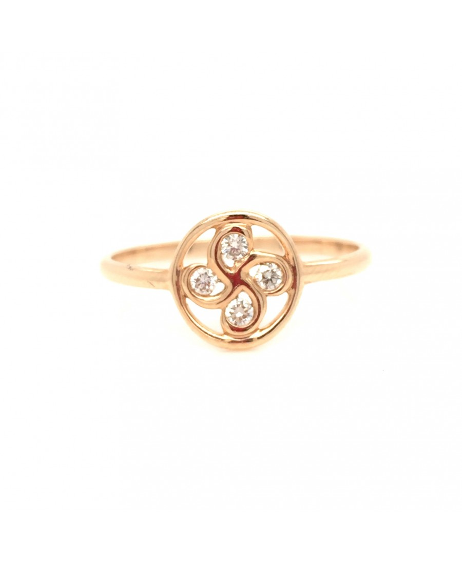 Bague Alaia diamants en or rose