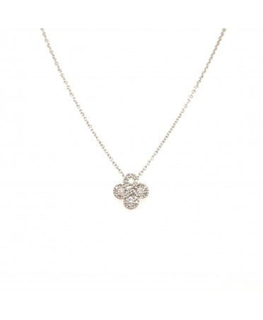 Collier Argia txiki diamants or blanc