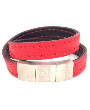 Bracelet Larrua rouge lauburu maori